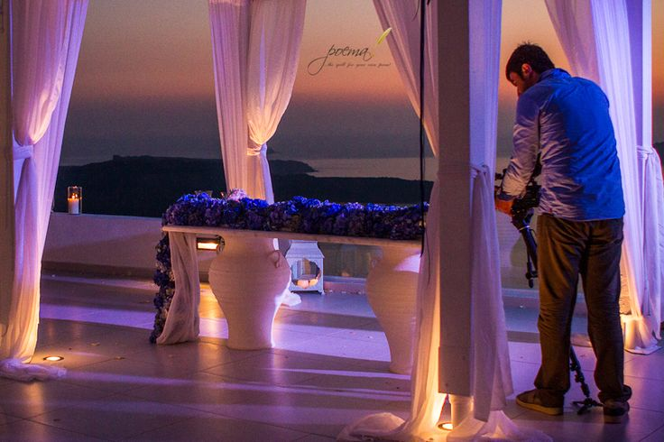 Blue Hydrangea table runner creation by Poema Weddings