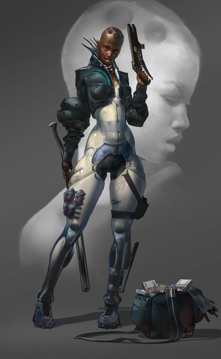 Futuristic sci fi femdom