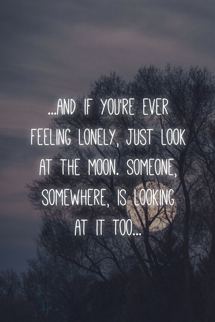 And If Youre Ever Feeling Lonely Just Look At The Moon Quotes
