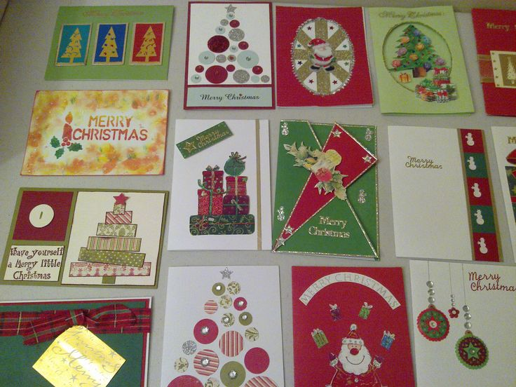 my first attempt at xmas cards