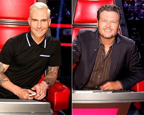 Adam Levine's Blonde Hair Mocked By Blake Shelton on The Voice - Us Weekly
