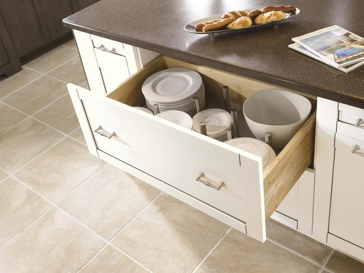 The Pegged Drawer Organizer From Kitchen Craft Brings Dishware Down To An Easy Reach Level