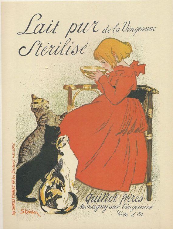 Milk Advertisement, Paris, 1897, Theophile Alexandre Steinlen