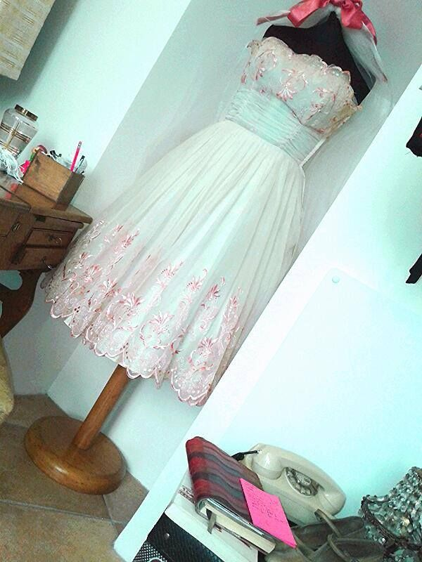 ONE OF OUR #1950s SHORT WEDDING DRESSES