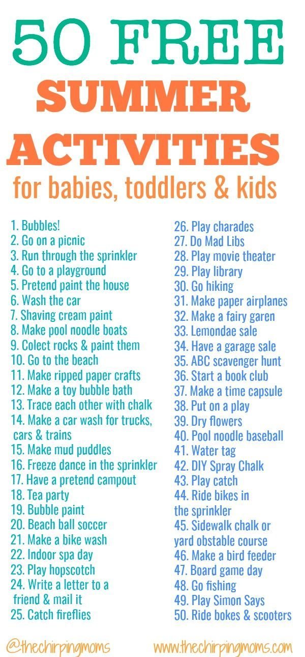 List of 50 Free Summer Activities for kids. Looking for summer activities for kids? Click here for 50 free ways to entertain babies, toddler and kids this summer. DIY Spray Chalk easy summer crafts, easy summer activities, summer camp themes, summer camp crafts, summer camp activities, free summer activities, summer dessert, pool party dessert