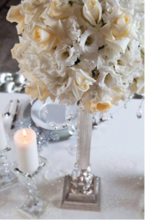 Kış düğünleri için masa dekorasyonları | Gelin Olmuş
