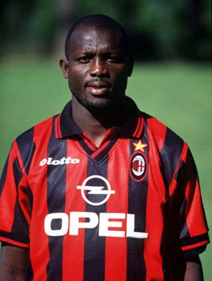 George Weah: ( Liberian) Mighty Barrolle, Invincible Eleven, Africa Sports, Tonnerre Yaoundé, Monaco, Paris Saint-Germain, Milan (loan Chelsea), Manchester City,  	Marseille, Al-Jazira