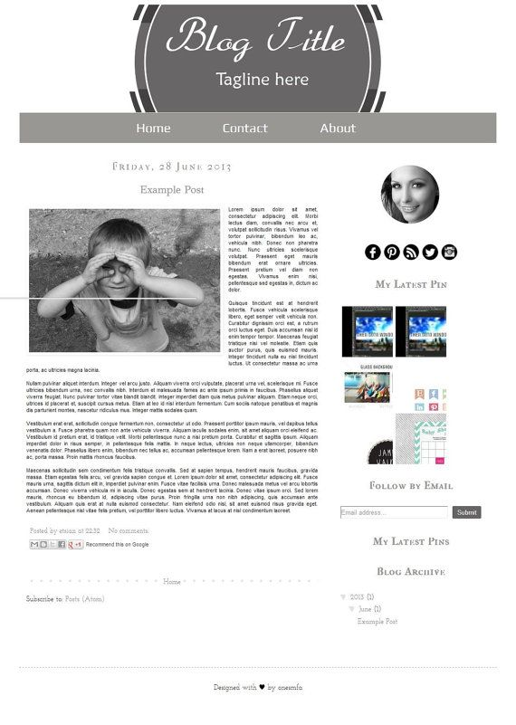 On SALE  Hurry Up  Premade Blogger Template The Black by ONESMFA, $17.50