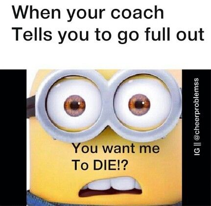 When your coach tells you to go full out.. You want me to DIE? #BeEpic