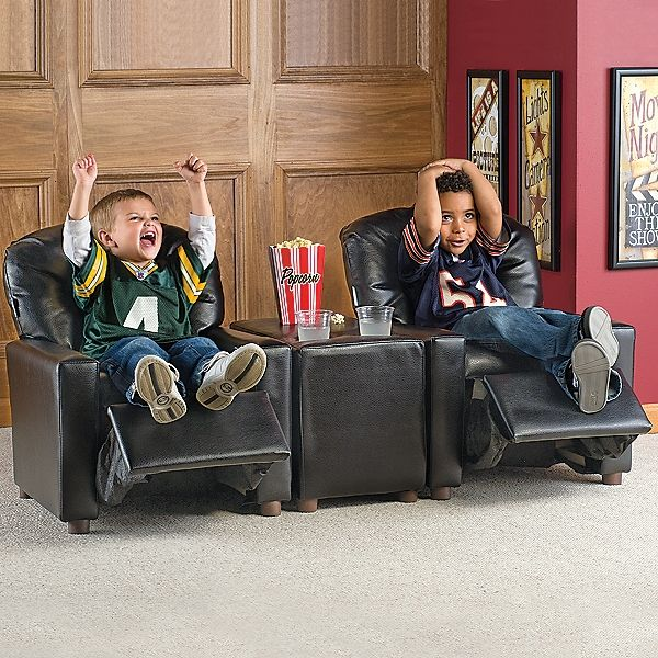 This is awesome!!!   Kids Reclining Theater-Style Chairs