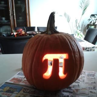 Pumpkin pie! It's like Halloween and Thanksgiving brought together … by math. | 21 Visual Puns You Need To See To Appreciate