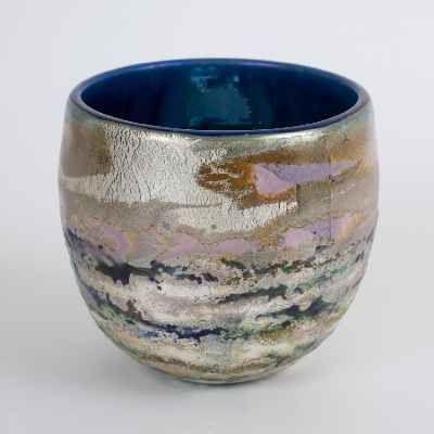 """Adam Aaronson Art Glass Bowl - """"Reflections"""""""