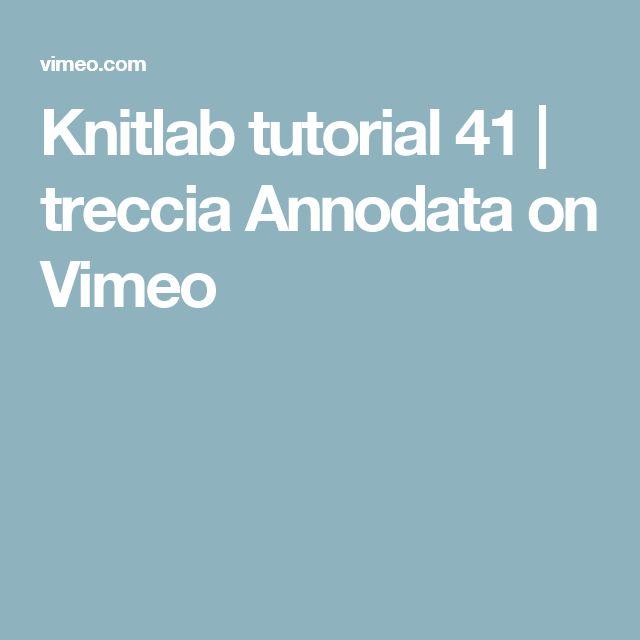 Knitlab tutorial 41 | treccia Annodata on Vimeo
