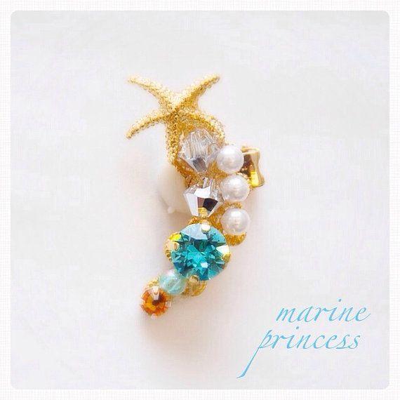 Marine Princess  Ear Cuff Clip Earcuff by MoMoMaguroJewellery, ¥2700