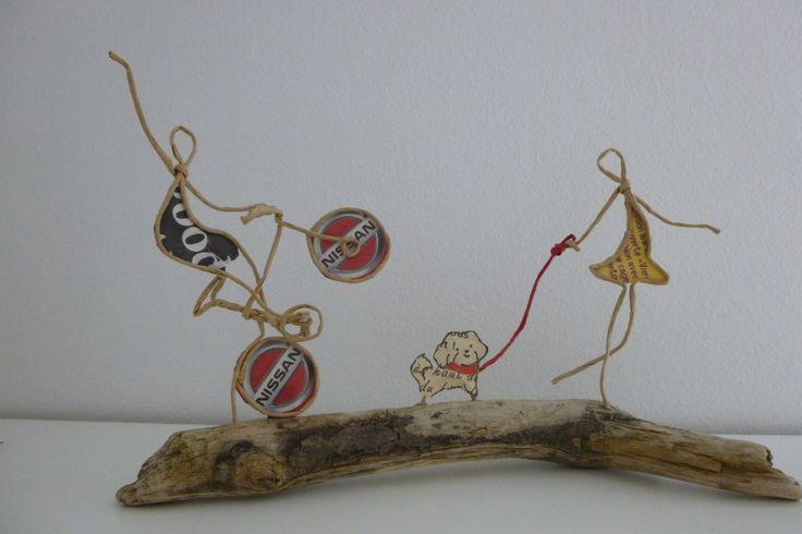 Les enfants - figurines en ficelle et papier