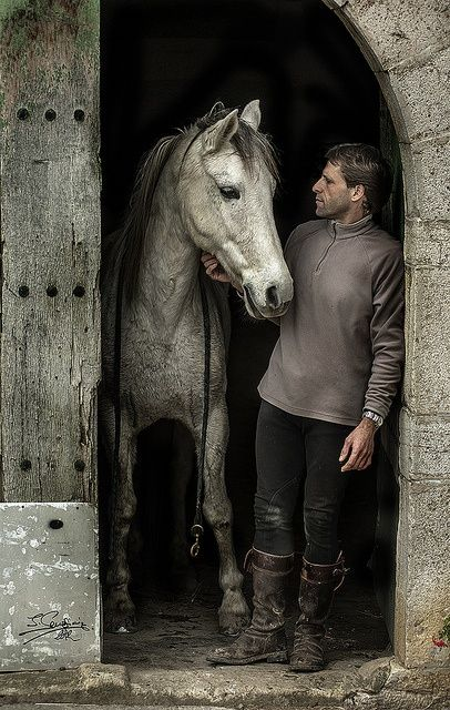 A gentleman and his horse, door, rustic, horse, hest, beautiful, gorgeous, animal, love, friendship, friends, photograph, photo