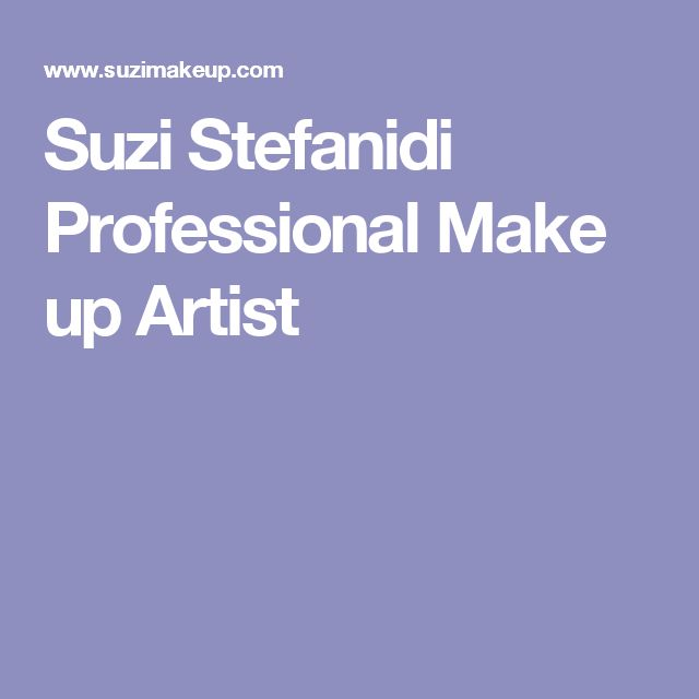 Suzi Stefanidi Professional Make up Artist