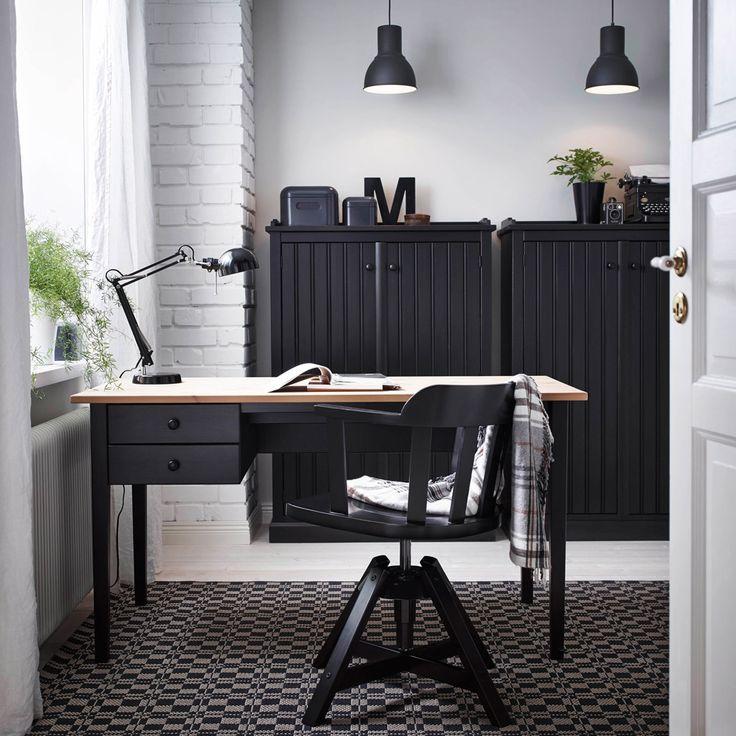 amazing ikea home office furniture design office. home office design with arkelstorp desk and sideboard in black wood feodor swivel amazing ikea furniture e