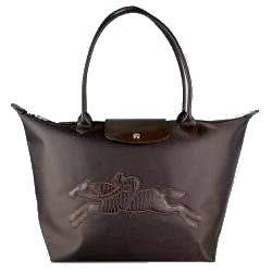 Longchamp Victoire Planetes Tote Bags Coffee