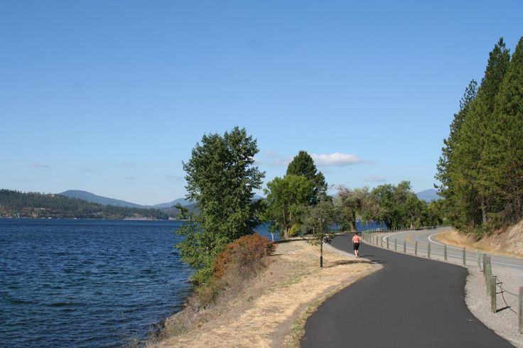 TRAIL OF THE COEUR D' ALENE: paved 72-mile trail in Idaho is mostly flat and very scenic. Trail goes from Plummer, ID to Mullan, ID