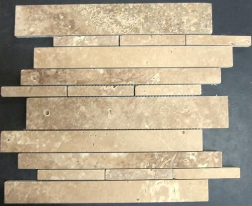 travertine mosaic wall tile exclusive noce 12 x 12 honed at m