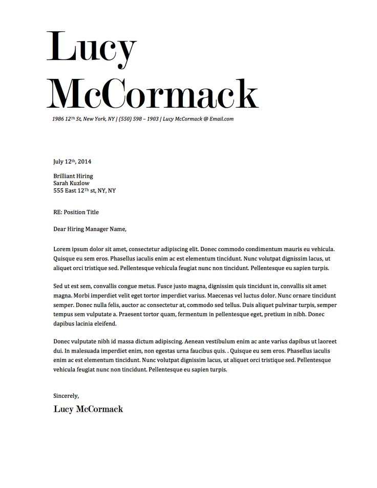 11 best Lucy McCormack Resume Template images on Pinterest - microsoft word letter template download