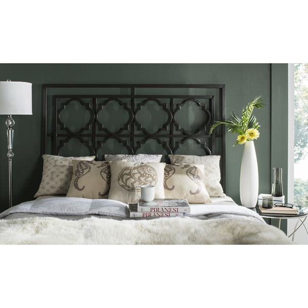 Safavieh Silva Metal Headboard (Queen) - I like this but not sure if it will work with my chair rail showing through