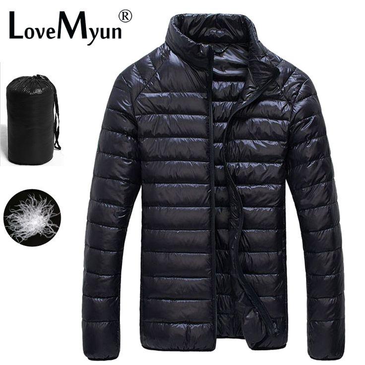 Winter Duck Down Jacket Ultra light Men 90% Coat Waterproof Down Parkas  Fashion  mens Outerwear coat  5011 ** Click the image for detailed description