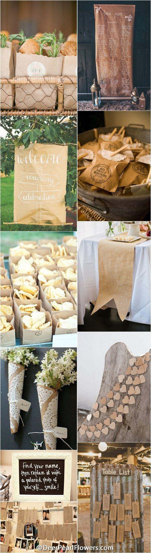 Kraft Paper rustic country wedding ideas / http://www.deerpearlflowers.com/rustic-country-kraft-paper-wedding-ideas/