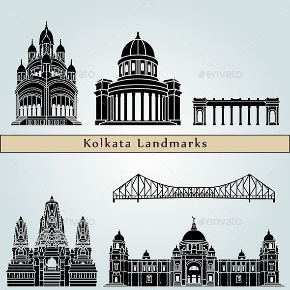 Kolkata Landmarks And Monuments Aesthetic Painting Perspective Art