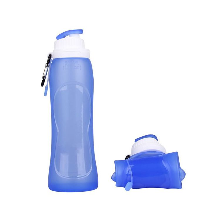 These collapsible water bottles are great for travel (like cruises), recreational sports, hiking and moms on the go. They're made of silicone and are eco-friendly, providing a great way to replace pla
