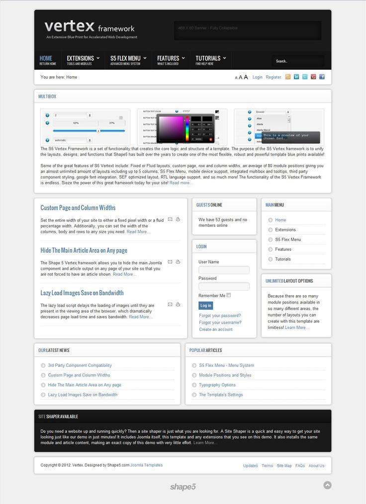 FREE Joomla Template - Vertex by Shape5
