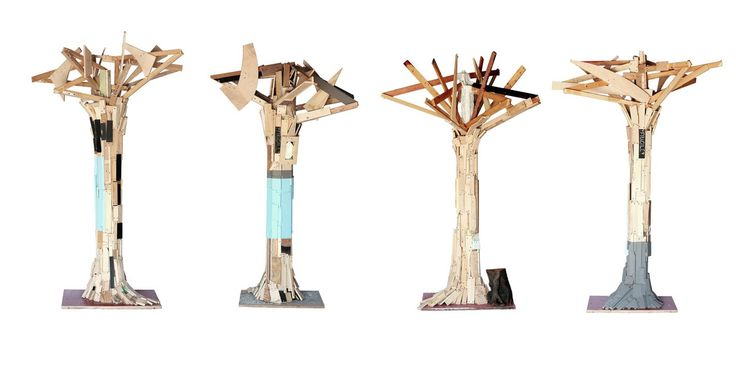 trees made with recycled wood