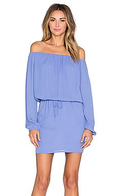 Three Eighty Two Willow Off Shoulder Dress in Periwinkle