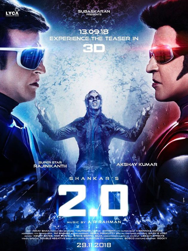 2 Point 0 New Posters Full movies download, Hindi movies