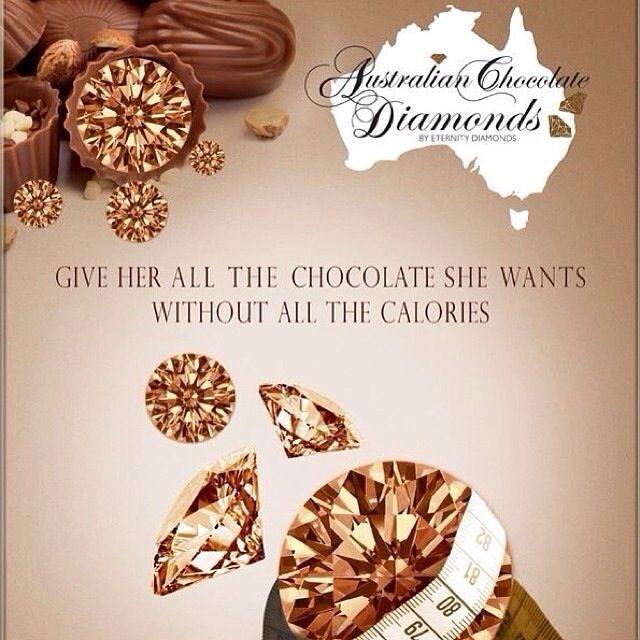 Australian chocolate diamonds