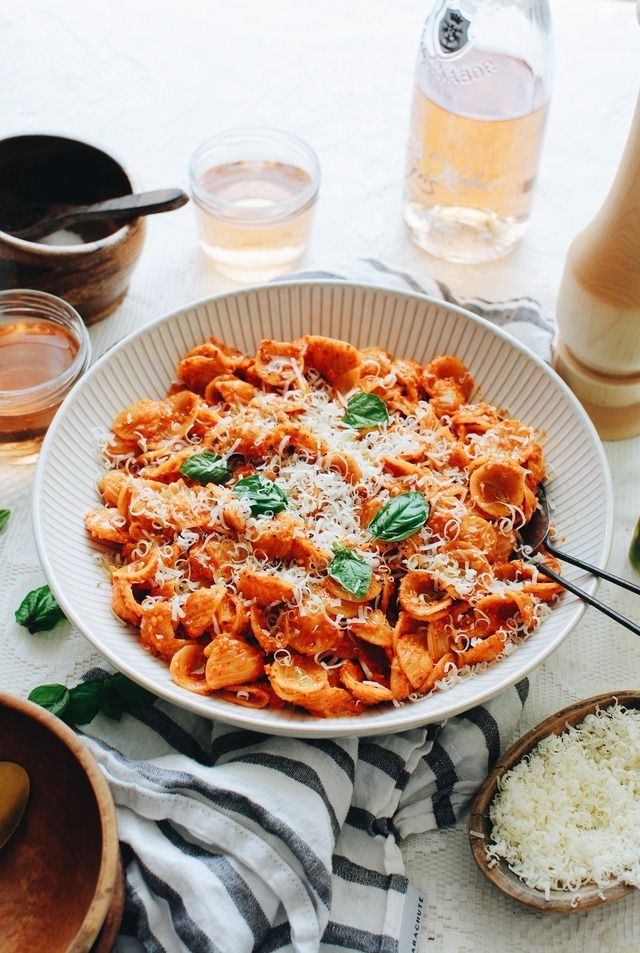 http://bevcooks.com/2017/08/roasted-red-pepper-pesto-pasta/