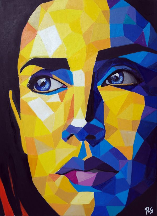 Blue and Yellow Woman 5 by Ricardo Garces – #Kunst #malerei