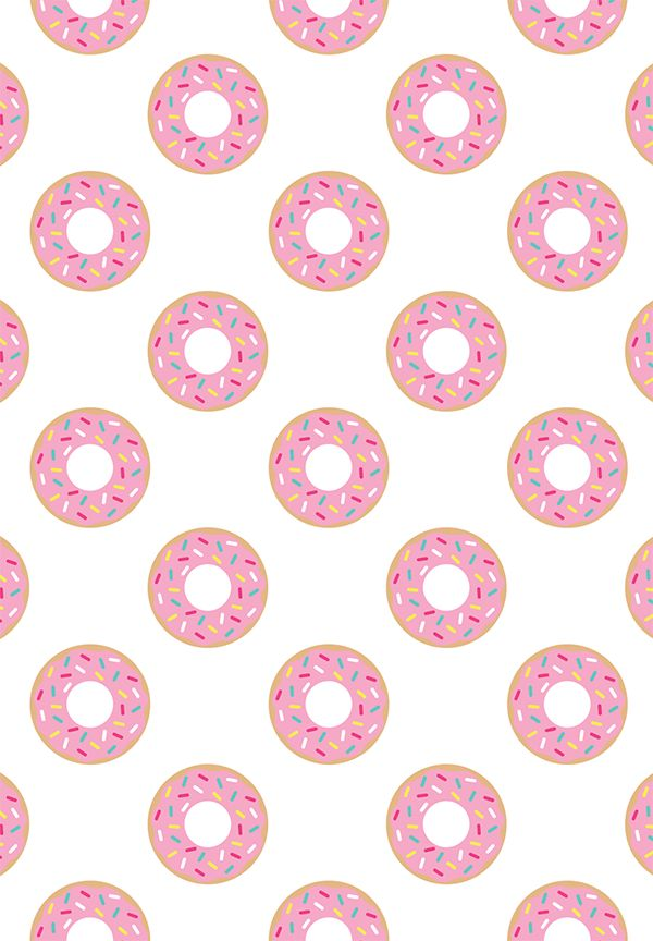 Free Printable Donut Pattern Paper #freeprintable #donut from @chicfetti