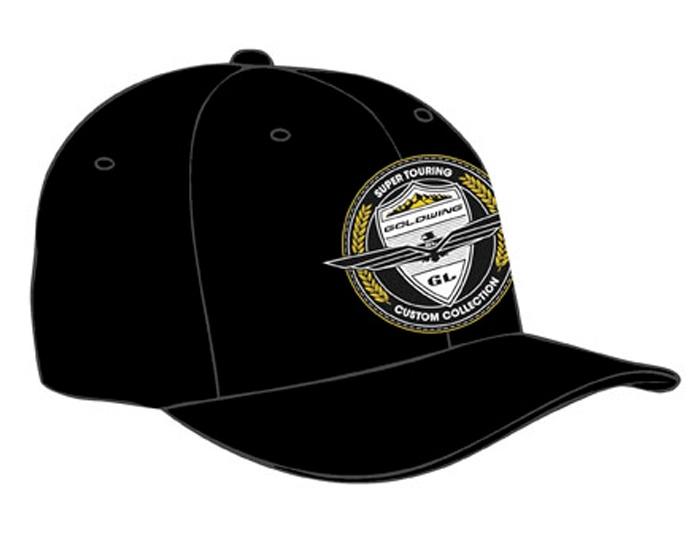 Men S Black Goldwing Custom Collection Hat Goldwing