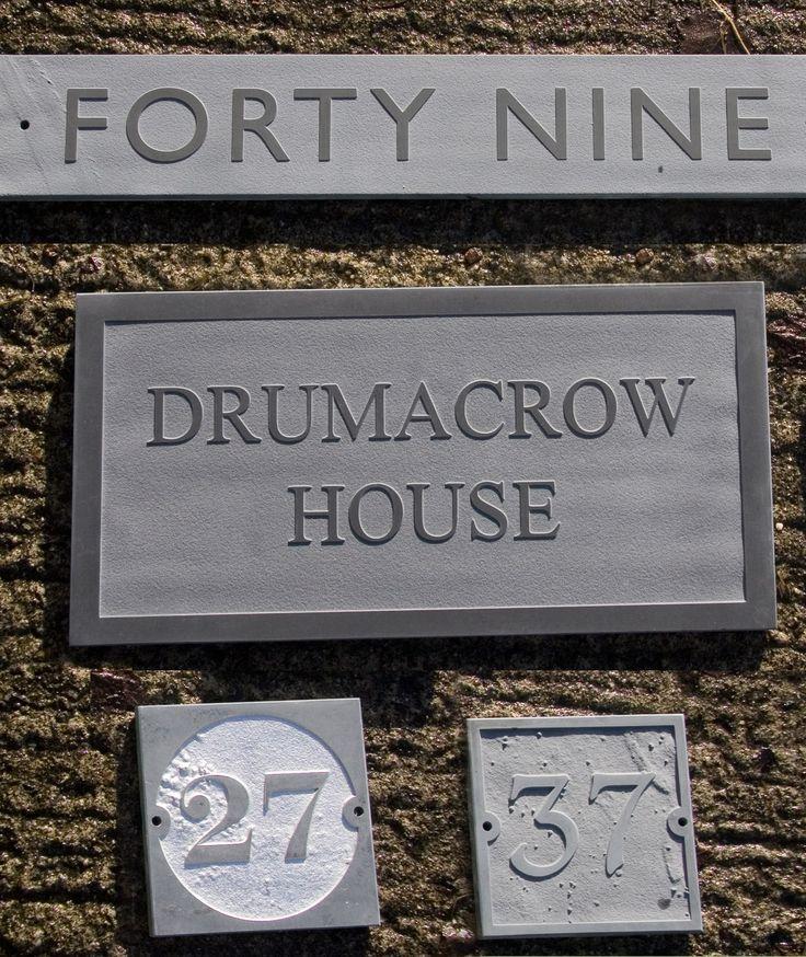 Door Plaques Slate Engraved Natural Honed Slate House Door Sign Name Number Plaque