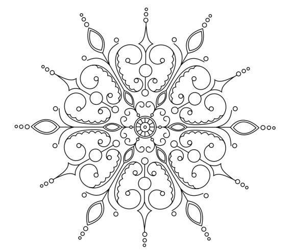 Coloring Page Snowflake Mandala Coloring Pages On Mandala ...
