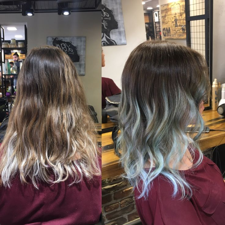 Renkli Ombre ✌✌✌ #ombre #renkli #hair #izmir #kuaför #mavi #blue #saç #renk #haircolor #hairstyle #hairdresser #hairdesign #izmirde #kuaförde #mdsactasarim @mdmetindemir