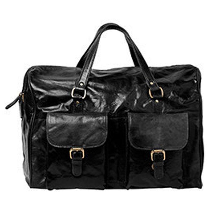 Cobb & Co Soho Leather Duffel Bag:Black - $300.00 #duffelbag #carrybag #leathercarrybag