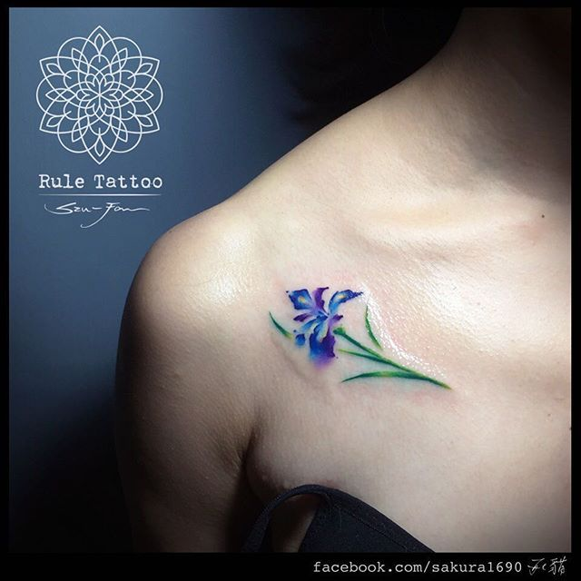 Beautiful iris tattoo