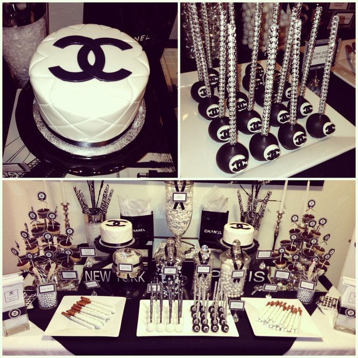 Beautiful Chanel themed candy buffet  https://www.djpeter.co.za