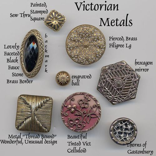 Victorian Metal Buttons by YaddaYaYa, via Flickr