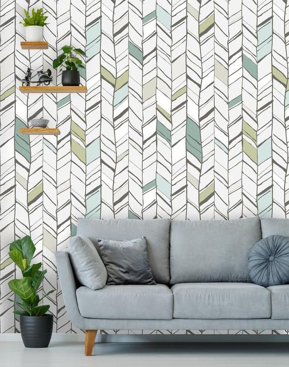 Removable Wallpaper Peel And Stick Geometric Mural Self Etsy Removable Wallpaper Home Wallpaper Textured Walls