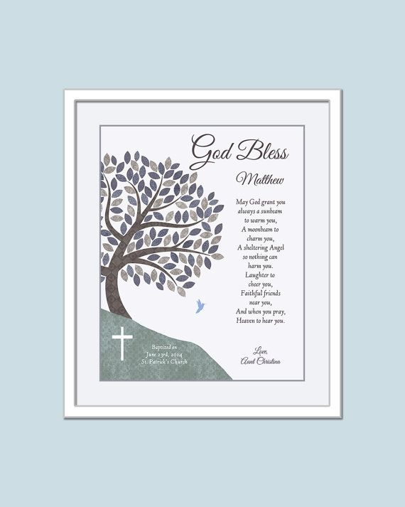 Boys Baptism Gift  Catholic Baptism Gift  Baby by GoldHousePrints