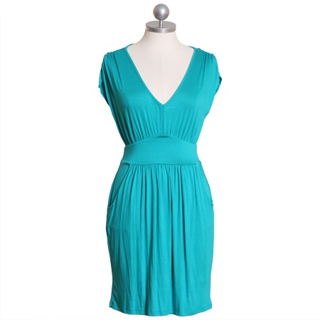 $36 here we stand pocket dress in teal